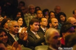 Prince Amyn, Prince Hussain, and Prince Aly Muhammad applaud the finalists of the Aga Khan Music Awards' Award in Performance category.