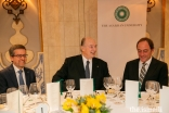 Mawlana Hazar Imam attended an event to celebrate the Aga Khan University's partnerships in Portugal, at which Mr Carlos Moedas, the European Commissioner for Research, Science and Innovation (left), delivered the keynote address.