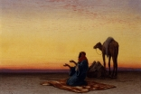 """""""Arab at Prayer"""" by Charles Théodore Frère (1860) - Photo: The Walters Art Museum"""