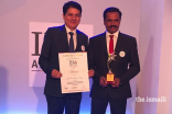 IDA Award Ceremony Picture -   Dr Iqbal Sama, Head- Special Projects and Gujarat Office & Mr Giridhar Reddy, Principal – Aga Khan School, Mundra receiving the award at Bengaluru.