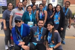 Jamati members participate in a marathon together in Richmond, Virginia