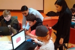 Grades 9 and 10 students participating in the Connect, Create, Cairo 3D workshop. Ismaili Council for Canada