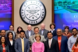 Sugar Land Mayor Joe Zimmerman, the Sugar Land City Council, I-CERV team members, and leadership of the Ismaili Council for the Southwestern United States at the Sugar Land City Council meeting on February 6, 2018.
