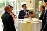 Former Texas Secretary of State Carlos Cascos, following a tour of the Ismaili Jamatkhana, Plano, with President Nizar Didarali of the Ismaili Council for Central USA, Samina Hooda, and Salim Rahimi.