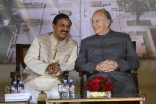 Mawlana Hazar Imam and Minister of Tourism and Culture Dr Mahesh Sharma at the foundation ceremony of the Humayun's Tomb site museum. AKDN / Narendra Swain