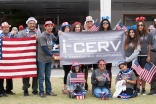 I-CERV volunteers participating in the July 4 parade in Los Angeles, California.