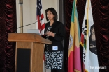 Dr. Shaheen Kassim-Lakha of the Council for USA addressing the audience.