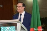 Mr Ferid Nandjee, Diplomatic Representative of AKDN West Africa, delivers a Diamond Jubilee commemorative speech.