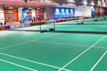 Tennis courts at Dubai Sports World located at the Dubai World Trade Centre. Akber Dewji