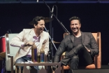 Salim and Sulaiman discuss their experiences in the music industry during the workshop at the Global Village. JG/Farhez Rayani