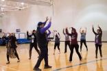Jamati members participate in a Zumba class at the US Ismaili Games. Farhnaaz Ramji