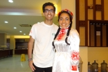 Ziana Nathoo dressed in traditional clothing