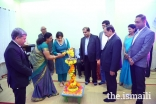Lighting of the lamp by Ms Nimet Reiner, Director, AKES during the Hostel day celebrations.