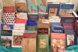 A selection of the IIS books donated to the Boston Public Library in January.