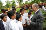 Mawlana Hazar Imam meets a group of students on the campus of the Aga Khan Academy, Hyderabad. AKDN / Ahmed Charania