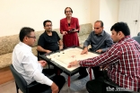 Members of Miami Jamat engaged in games after Jamatkhana ceremonies.