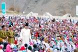 Mawlana Hazar Imam walks through the Jamat during the Darbar at Garamchashma, Lower Chitral