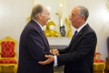 President Marcelo Rebelo de Sousa welcomes Mawlana Hazar Imam at Belém Palace, the official residence of the President of Portugal. AKDN / Luis Filipe Catarino