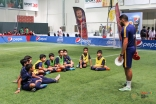 Kids atttend the FCBEscola football camp held at the Jubilee Games in Dubai. Kashish Ali