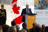 His Excellency David Johnston, Governor General of Canada delivers the opening keynote at the Smart Global Development conference held at the Delegation of the Ismaili Imamat in Ottawa. AKFC / Patrick Doyle