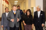 Mayor of Dallas, Mike Rawlings taking a tour of the Ismaili Jamatkhana, Plano facilities.