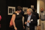 Amy Hofland, Executive Director of Crow Museum and Dean Kratz from UTD, in discussion