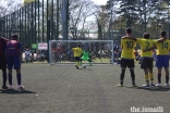A penalty shootout takes place during the football competition at the European Sports Festival 2019.