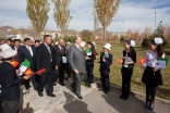 Mawlana Hazar Imam arrives at the UCA School of Professional and Continuing Education in Naryn. AKDN / Mikhail Romanyuk