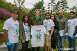 I-CERV Volunteers presenting Councilwoman Veronica Lurvey with a T-shirt commemorating Earth Day 2019.