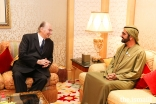 Mawlana Hazar Imam in conversation with His Highness Sheikh Mohammed bin Rashid Al Maktoum, the Vice President, Prime Minister and Ruler of Dubai.
