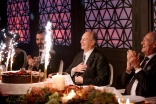 Mawlana Hazar Imam is presented with a cake on behalf of the worldwide Jamat on the occasion of his 80th birthday. Farhez Rayani