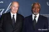 Mawlana Hazar Imam and the late Kofi Annan in New York, 18 October 2017.