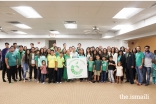 Jamati members participate in and celebrate Go Green launch in Miami HQ.