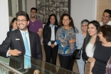 Tour guides conduct mock tours in preparation for the opening of the Ismaili Centre, Toronto. Moez Visram