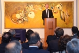 Nick Boles, MP speaking at the Ismaili Centre, London on the United Kingdom's new National Living Wage initiative. Ismaili Council for the UK / Farhan Suchak and Sarfaraj Khorasi