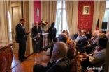 His Excellency Abdel-Ellah Sediqi, introducing the event at the Afghan Embassy in Paris.