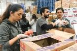 Seattle I-CERV volunteers help Food Lifeline prepare 91,000 lbs of food for those in need.