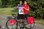 Sulaiman Hakimi and Jamil Ahmadi cycled across Canada while raising awareness and funds for the Breakfast Club of Canada.
