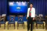 Shelmina participating in a meeting at the White House to advance equity for women and girls of color, December 2016.