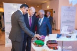Prince Amyn visiting the Ethics in Action exhibition with Rahim Firozali, President of the Ismaili Council for Portugal and Nazim Ahmad, Representative of the Ismaili Imamat to the Portuguese Republic.