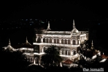 The Aga Khan Palace (Gandhi National Memorial) was lit up to celebrate the 150th anniversary of Mahatma Gandhi's birth on 2 October.
