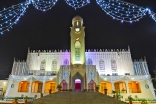 The Dharkhana Kampala, decorated in preparation for Mawlana Hazar Imam's visit to Uganda.