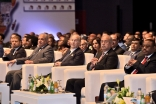 Mawlana Hazar Imam at the plenary session of the Africa 2016 Forum, with Egyptian Prime Minister Sherif Ismail seated to his left. AKDN / Zahur Ramji