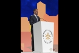 Prince Rahim speaking at the Opening Ceremony of the 2016 Jubilee Games in Dubai. JG / Aly Ramji