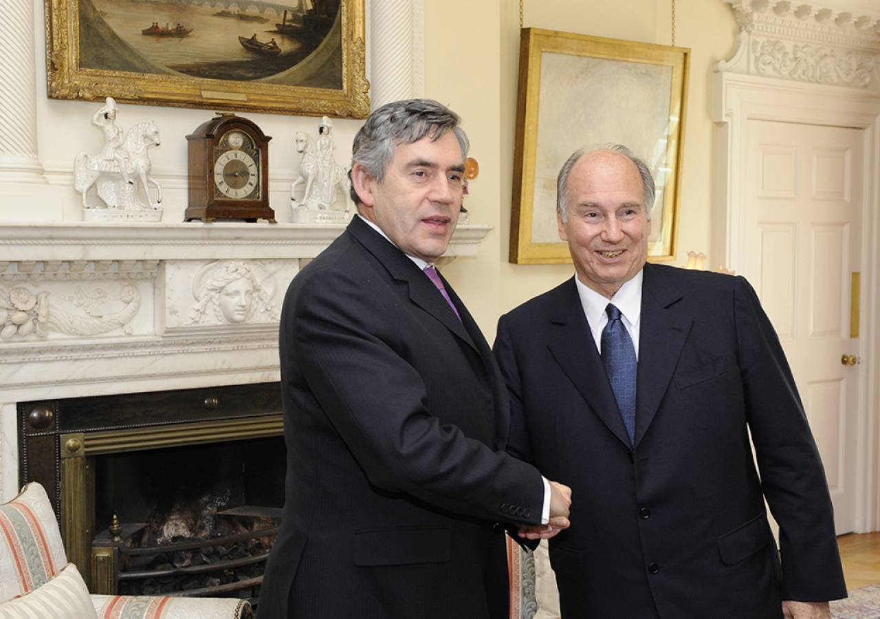 Mawlana Hazar Imam meets with British Prime Minister, The Rt Honourable Gordon Brown, at 10 Downing Street, London, 3 July 2008.