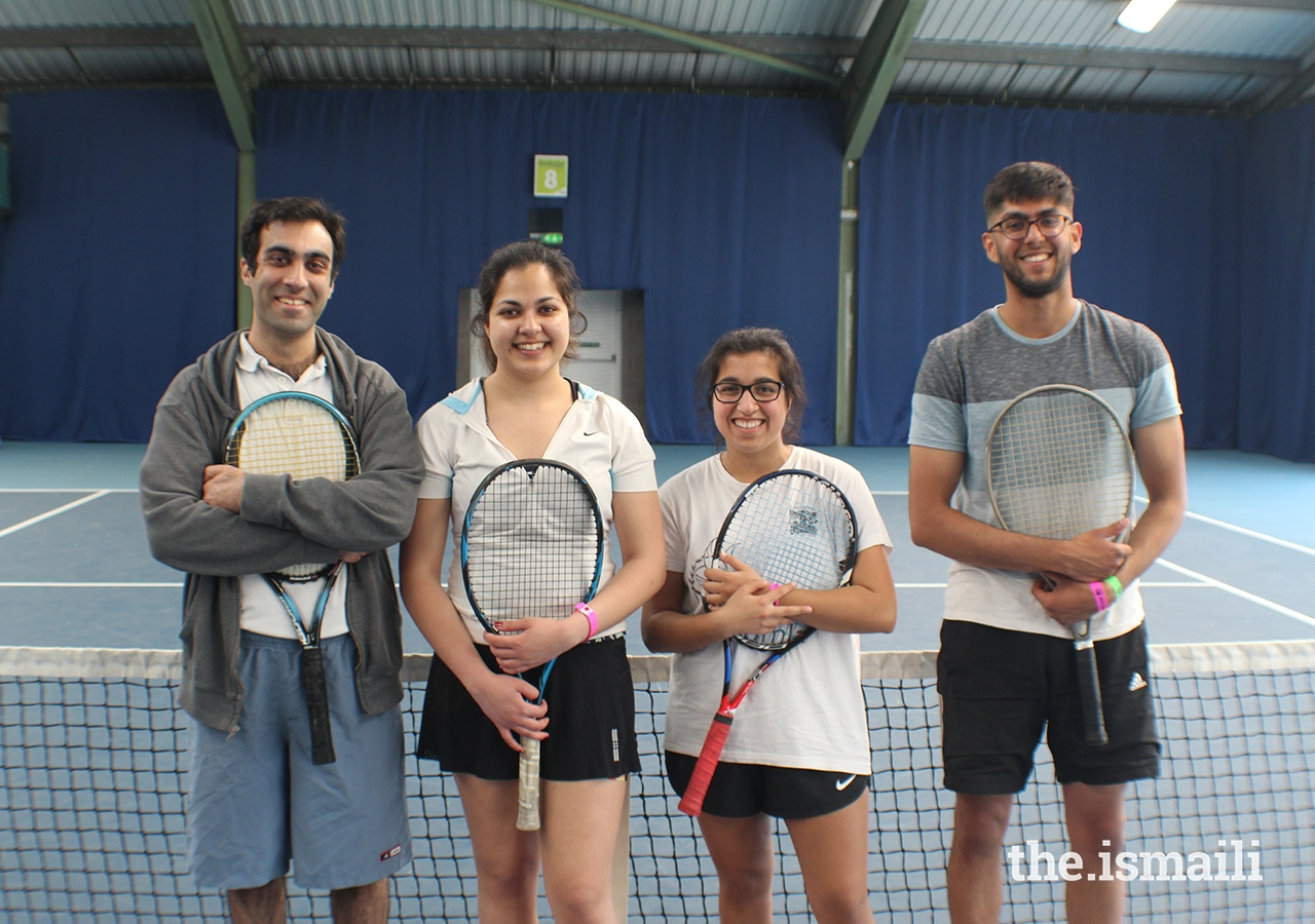 Tennis participants at the European Sports Festival, held at the University of Nottingham.