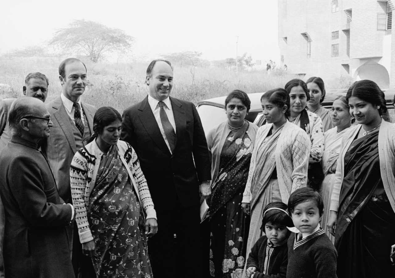 Mawlana Hazar Imam and Prince Amyn Aga Khan during the Silver Jubilee visit to India. (New Delhi, 1983) Christopher Little