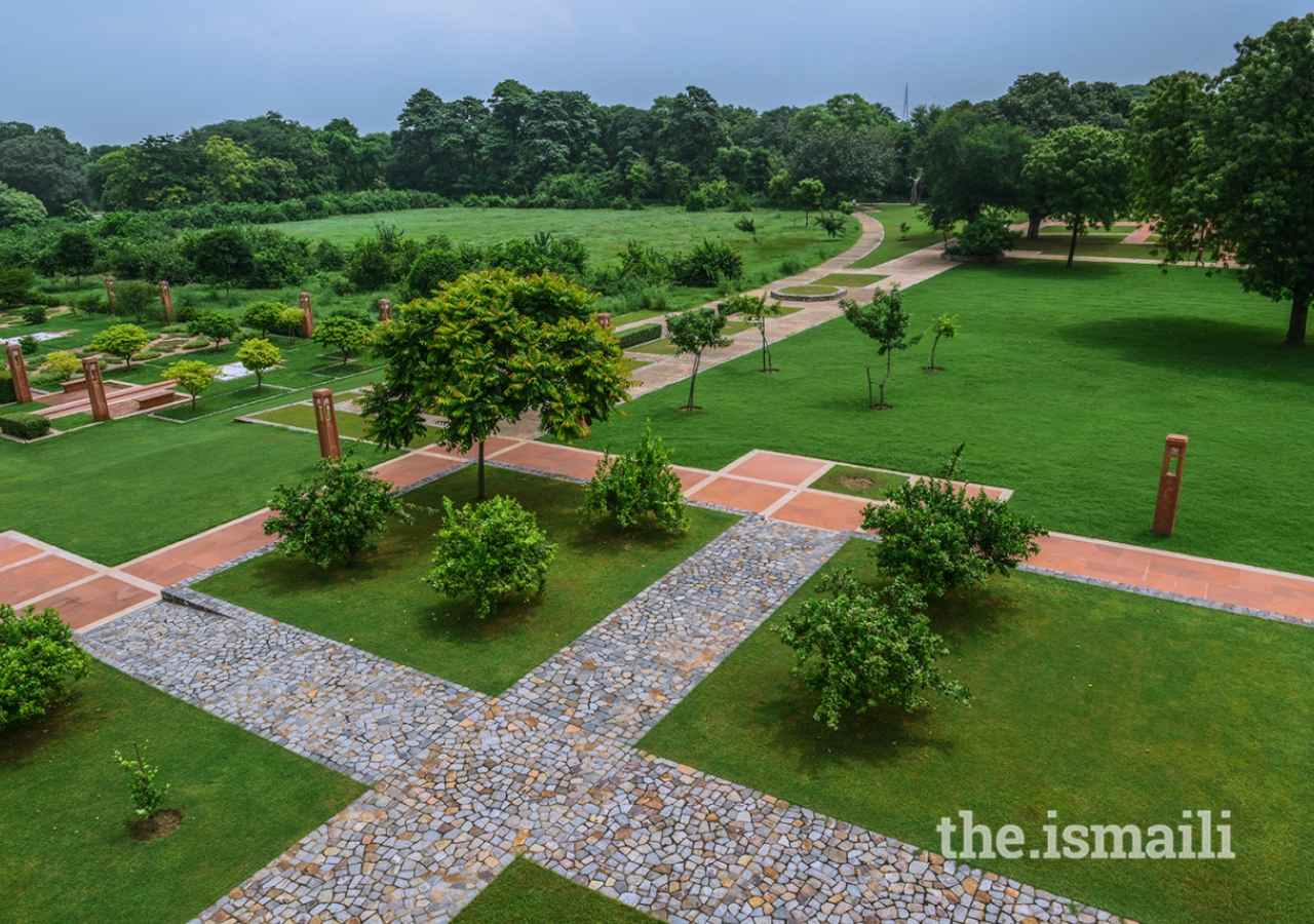 View of Sunder Nursery from Sunder Burj - An amphitheatre on 1/3rd acre that will serve as a venue for school groups and cultural performances in a garden setting.