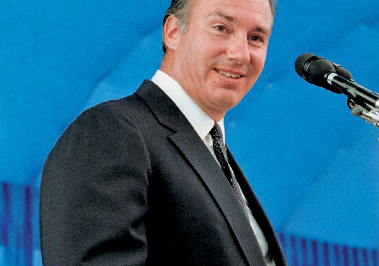 Mawlana Hazar Imam speaking during the Foundation Ceremony of the Ismaili Centre, Vancouver.