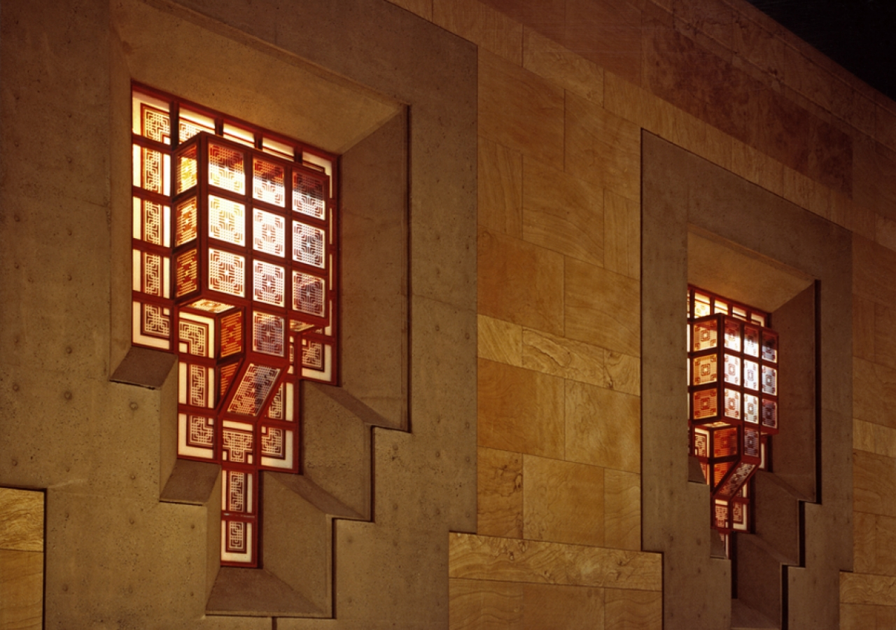 An outside view of the lantern-like windows of the Ismaili Centre, Burnaby.